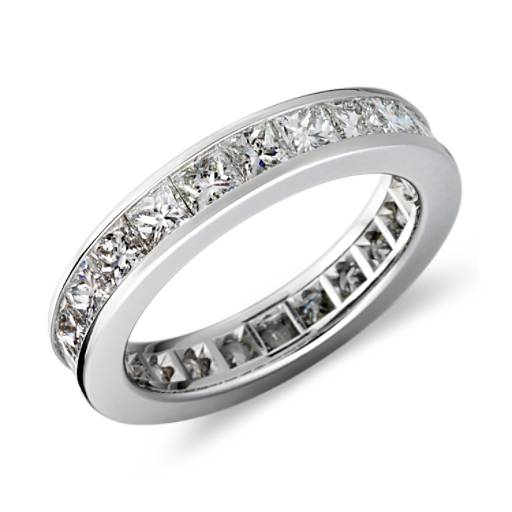 Princess Cut Channel-Set Diamond Eternity Ring in Platinum (3 ct. tw.)
