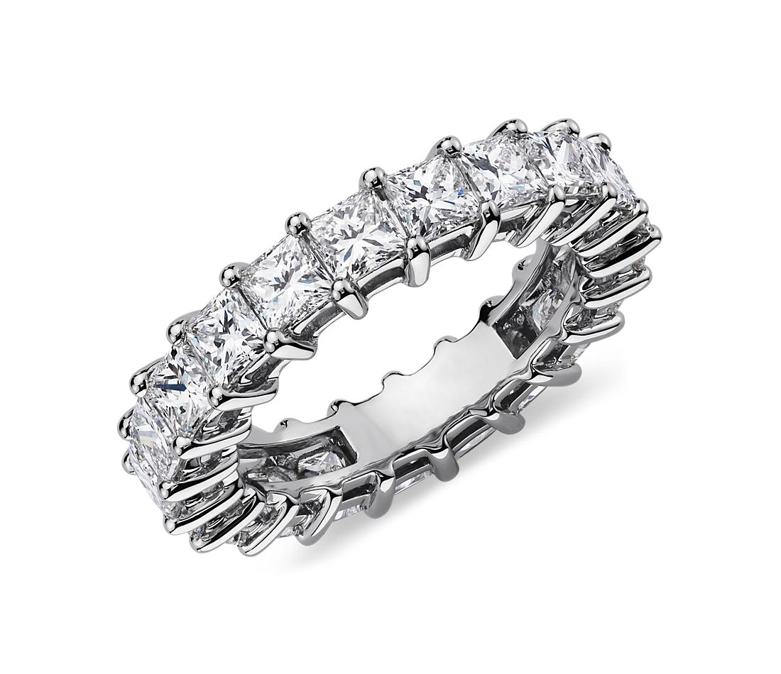 Princess Cut Diamond Eternity Ring in Platinum (4 ct. tw.)
