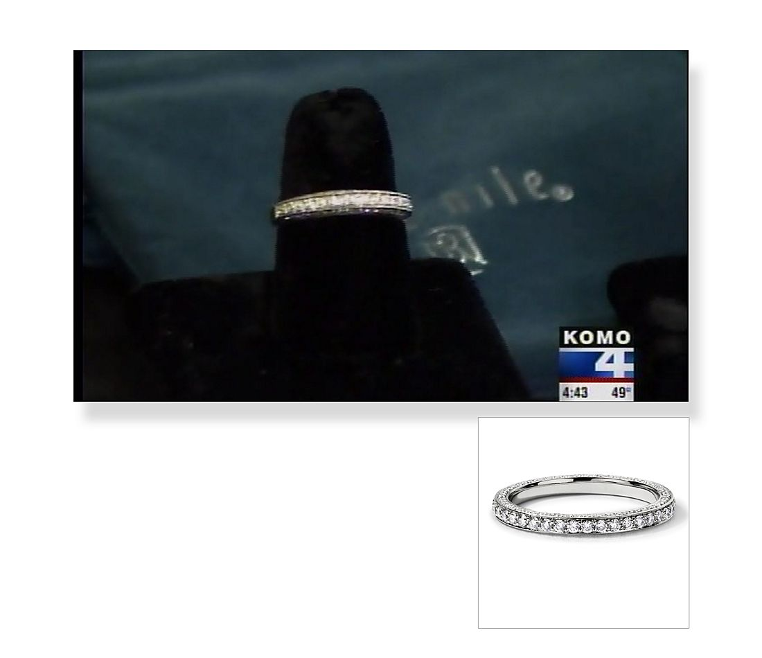 Trio Micropave Eternity Ring in ABC Seattle Style Show