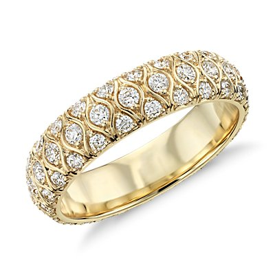 Radiance Diamond Eternity Ring in 18k Yellow Gold (0.95 ct. tw.)