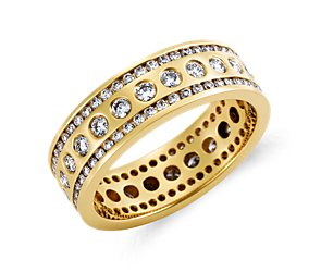 Aurora Diamond Eternity Ring in 18k Yellow Gold (1 ct. tw.)