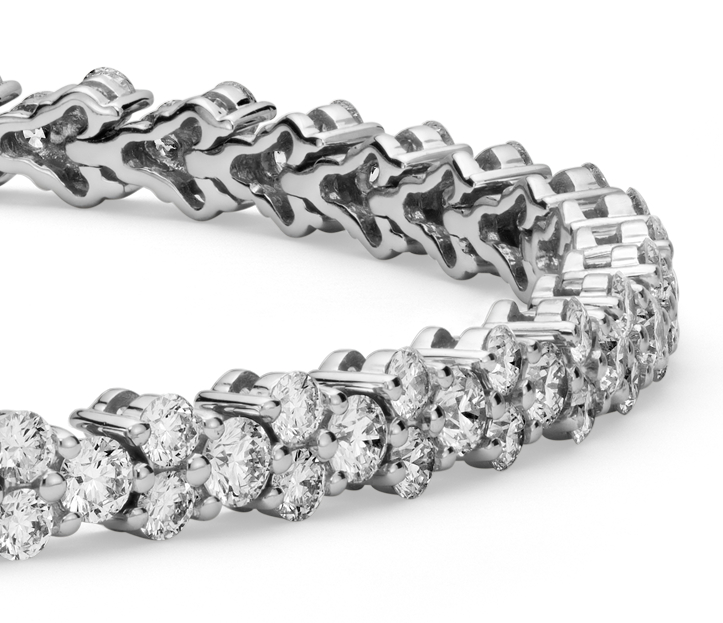 Diamond Garland Tennis Bracelet in 18k White Gold