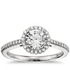 Diamond Halo Engagement Ring in Platinum