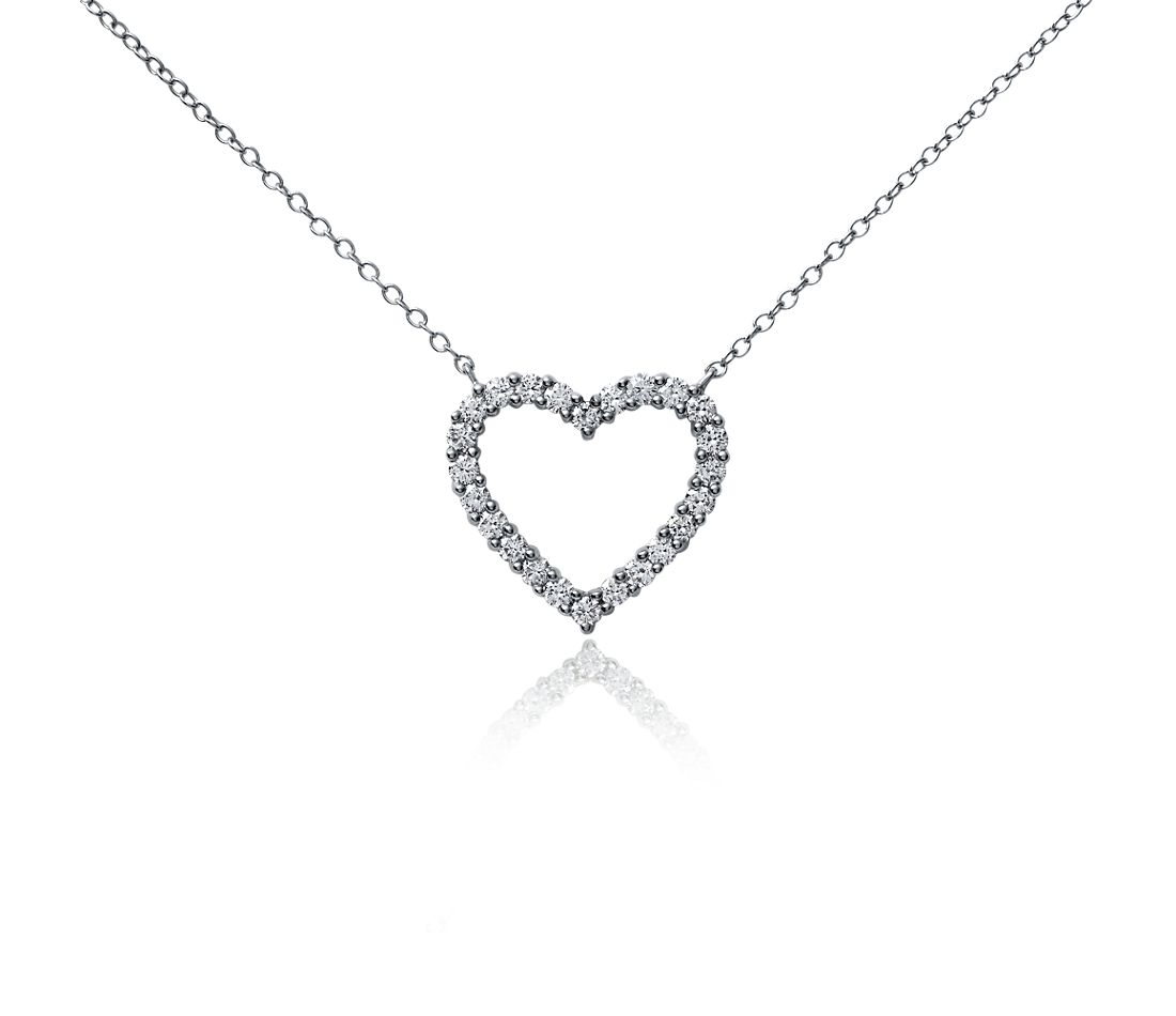 Heart Diamond Pendant in Platinum (1 ct. tw.)