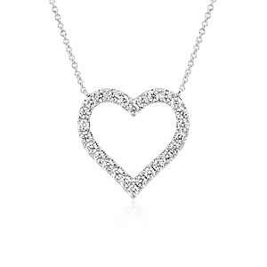 NEW Diamond Heart Pendant in 14k White Gold (1 ct. tw.)