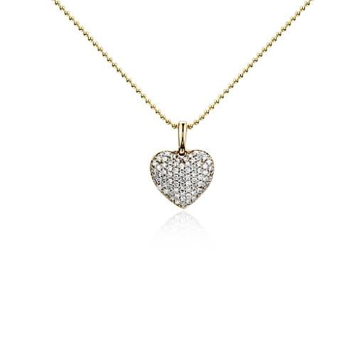 Heart Diamond Pendant in 14k Yellow Gold (1/4 ct. tw.)