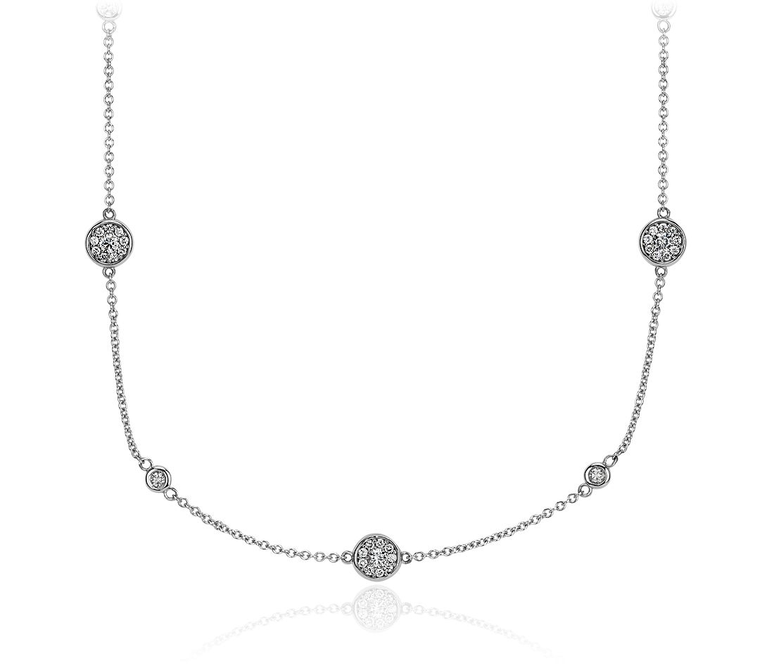 Fancies By The Yard Necklace In 18k White Gold Blue Nile