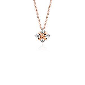 Blue Nile Studio Rose Petal Diamond Pendant in 18k Rose Gold (1/3 ct. tw.)
