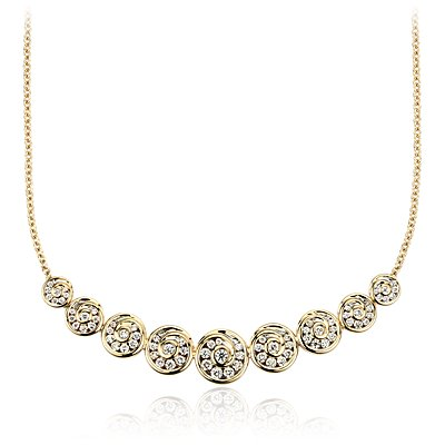 Collier spirale diamant Blue Nile Studio en or jaune 18 carats (1 carat, poids total)