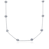 Diamond Bezel Necklace in 18k White Gold (3 ct. tw.)