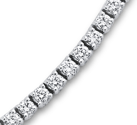 Collier éternité diamants en or blanc 18 carats (5 carats, poids total)