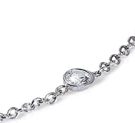 Bracelet diamant serti en or blanc 18carats (2carats, poids total)