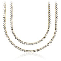 Collier Opéra en diamant en Or jaune 18 ct (21 carats, poids total)