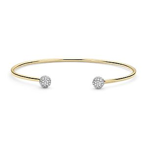 Blue Nile Studio Diamond Pavé Ball Cuff Bracelet in 18k Yellow Gold (0.46 ct. tw.)