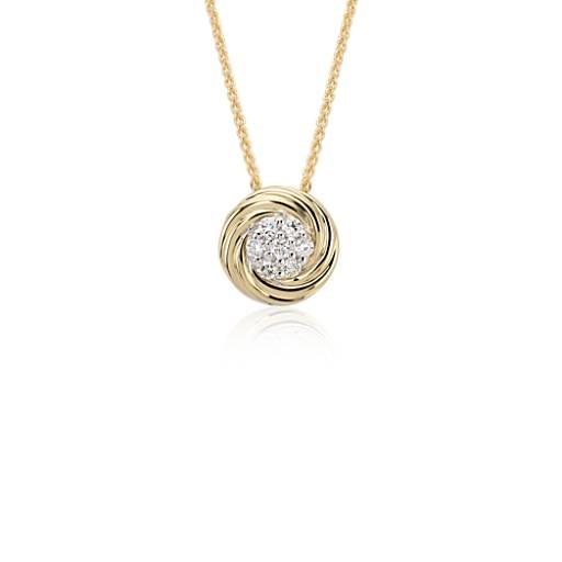 Blue Nile Studio Diamond Cluster Pendant in 18k Yellow Gold (1/4 ct. tw.)