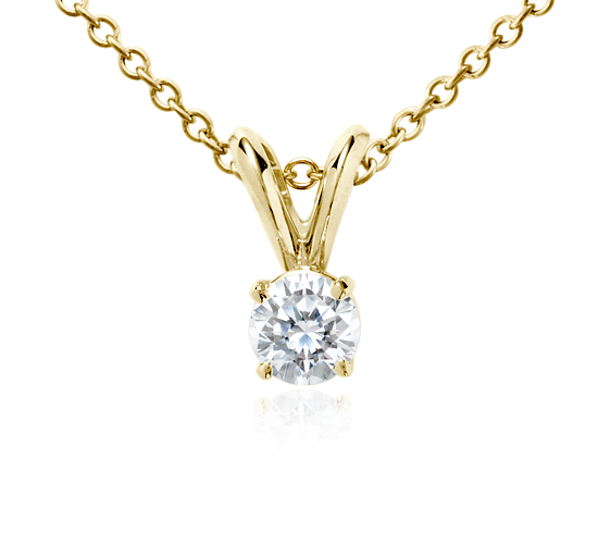 18k Gold Four-Claw Double-Bail Diamond Pendant (1/4 ct. tw.)