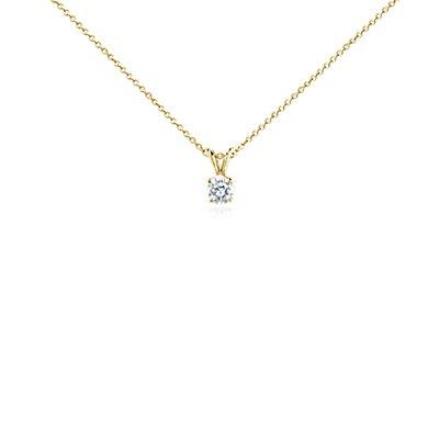 Colgante de diamante en oro amarillo de 18k (3/4 qt. total)