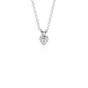 NOUVEAU Pendentif diamant taille cœur en platine (1/2carat, poids total)