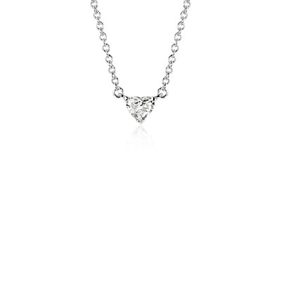 NEW Heart-Shaped Diamond Pendant in Platinum  (1/2 ct. tw.)