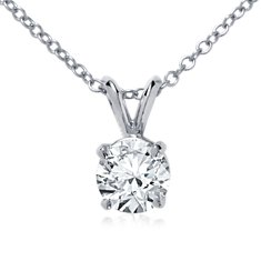 Double-Bail Solitaire Pendant Setting in Platinum