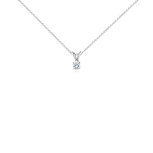 Solitaire Diamond Pendant in Platinum (1/2 ct. tw.)