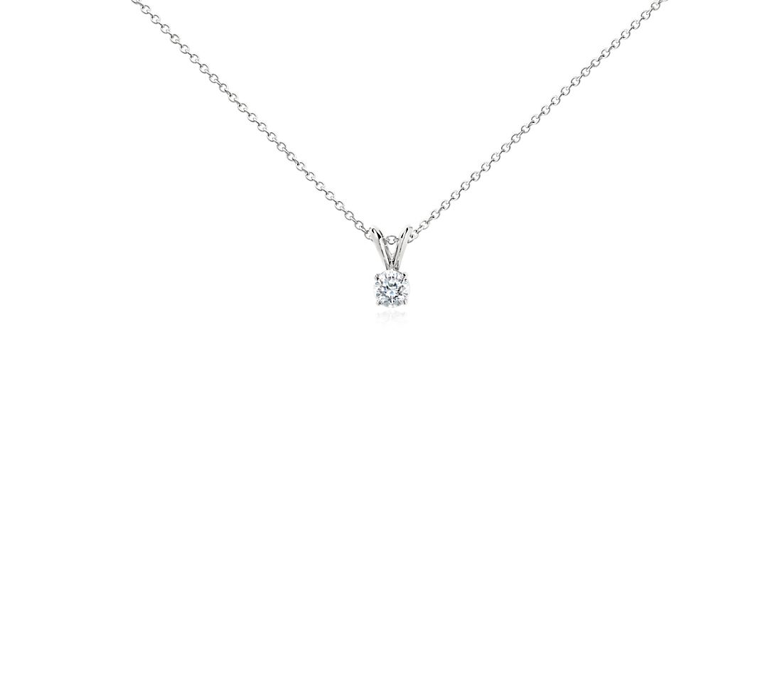 Diamond Solitaire Pendant in Platinum (1/2 ct. tw.)