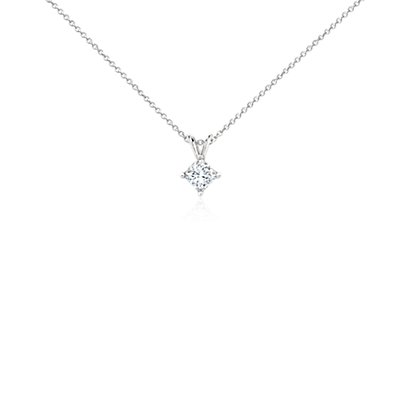 Princess-Cut Diamond Pendant in Platinum (3/4 ct. tw.)
