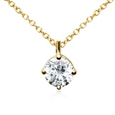 Petite Bail Pendant in 18k Yellow Gold