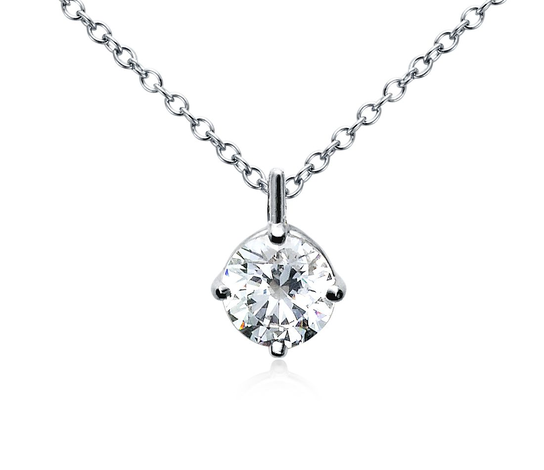 Petite Bail Pendant in 18k White Gold