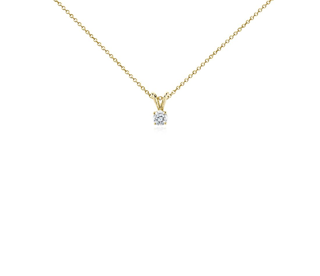 Diamond Pendant in 18k Yellow Gold (1/2 ct. tw.)