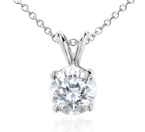 Diamond Solitaire Pendant in Platinum (2 ct. tw.)
