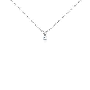 18k White Gold Four-Claw Double-Bail Diamond Pendant (1/4 ct. tw.)