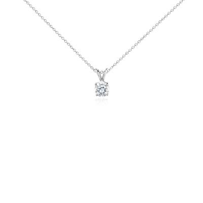 Colgante de diamante solitario en oro blanco de 18k (1 qt. total)
