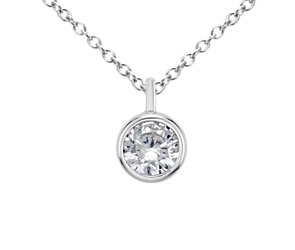 Bezel Solitaire Pendant Setting in Platinum
