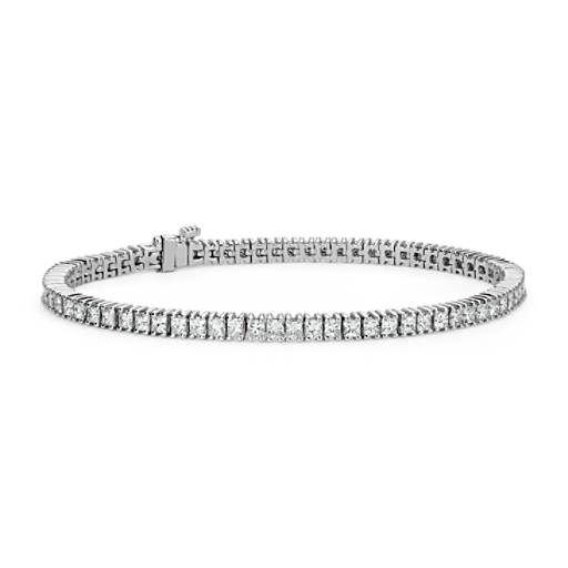 Diamond Princess Tennis Bracelet in 14k White Gold (5 ct. tw.)