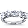 Classic Five-Stone Diamond Ring Setting in 18k White Gold