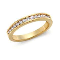 Bague diamant serti barrette  en Or jaune 18 ct (1/4 carat, poids total)