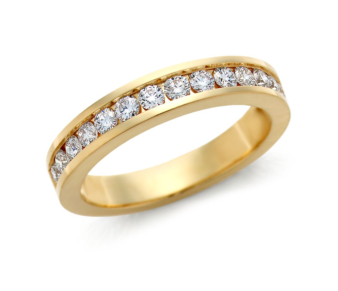 Channel Set Diamond Ring in 18k Yellow Gold (1/2 ct. tw.)