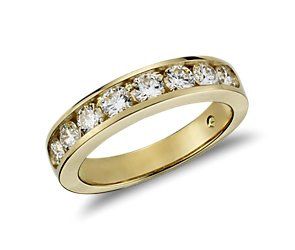 Channel Set Diamond Ring in 18k Yellow Gold (1 ct. tw.)