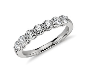 Pavé Crown Diamond Ring in Platinum (1 ct. tw.)