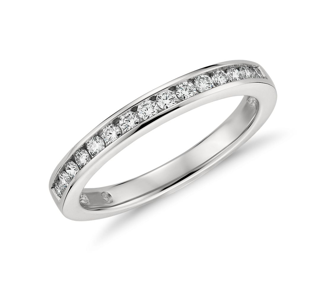 Channel Set Diamond Ring in Platinum