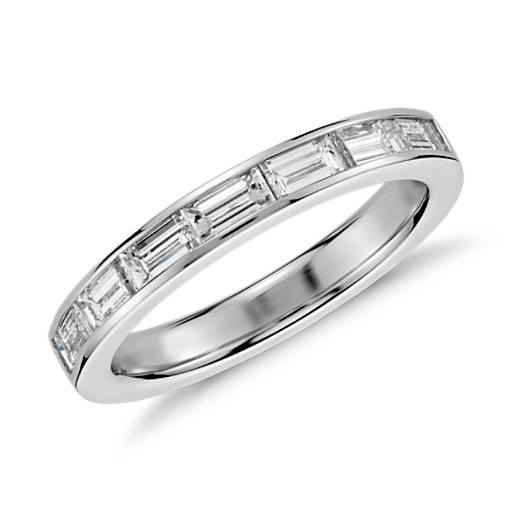 diamants baguette sertis barette en platine