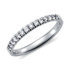 Pavé Diamond Ring in Platinum (1/4 ct. tw.)
