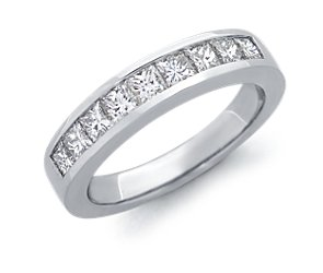Channel-Set Princess-Cut Diamond Ring in Platinum (1 ct. tw.)
