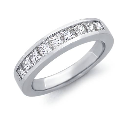 Channel Set Princess Cut Diamond Ring in Platinum (1 ct. tw.)