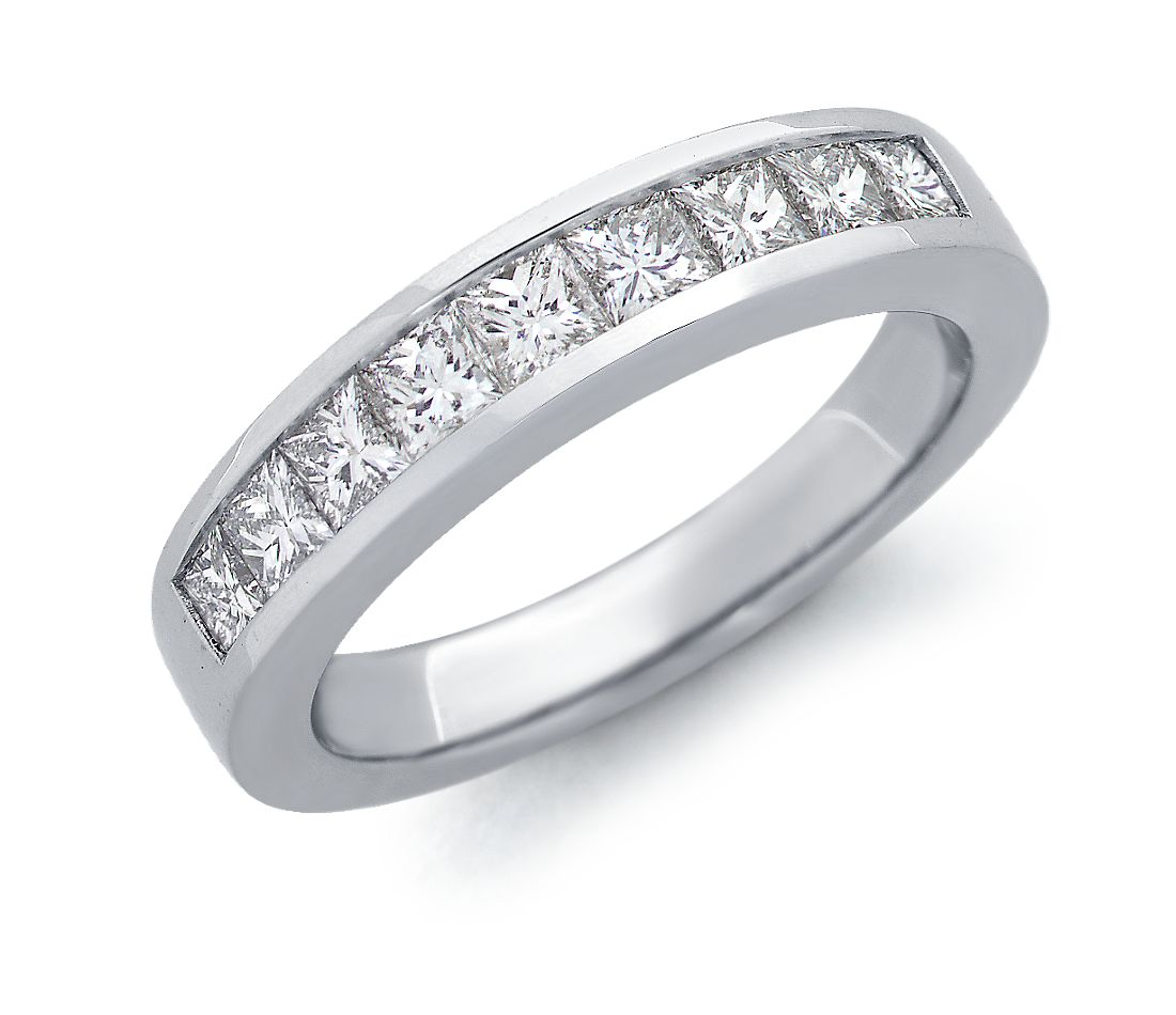 Cushion Cut Channel Setting Channel Set Princess Cut