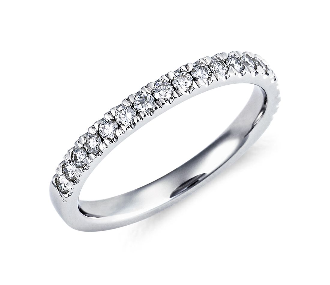Nouveau Pavé Diamond Ring in Platinum