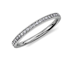 Heirloom Petite Pavé Diamond Ring in Platinum