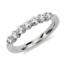 Pavé Crown Diamond Ring in Platinum (1/2 ct. tw.)