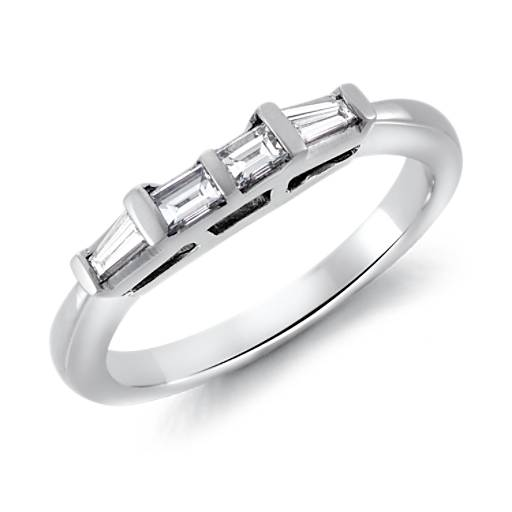 NEW Tapered Baguette Diamond Ring in Platinum